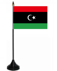 Libya 1951 - 1969 Desk / Table Flag with plastic stand and base.
